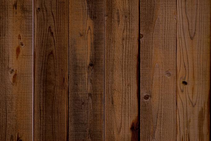 貼られた茶色い板のテクスチャの背景