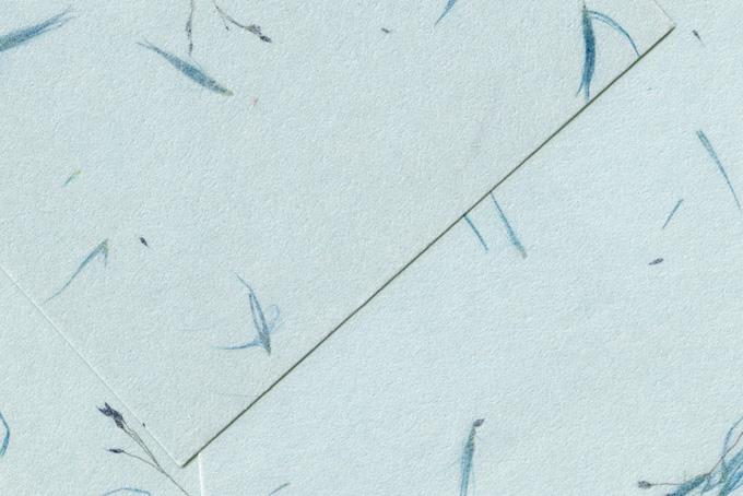 草の模様のある日本紙