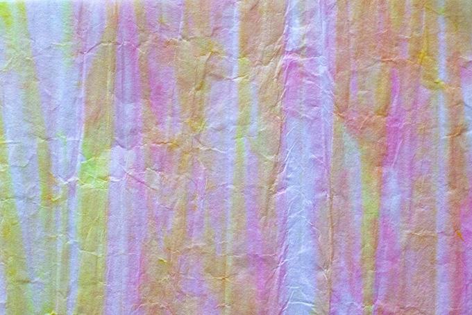 ピンクと黄色の縞模様の和紙
