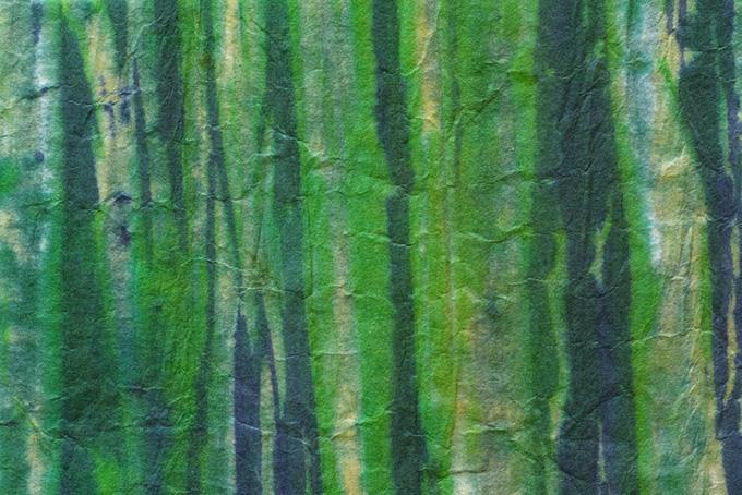緑の柄のある和風の紙