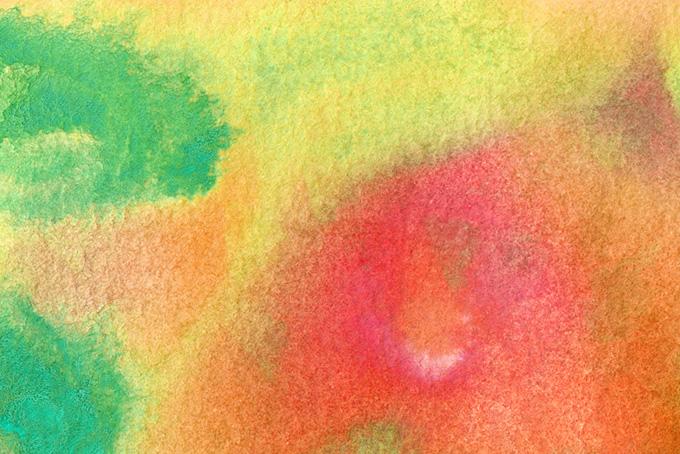 赤黄緑の水彩テクスチャ