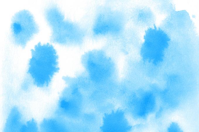 白背景に青い水彩テクスチャ