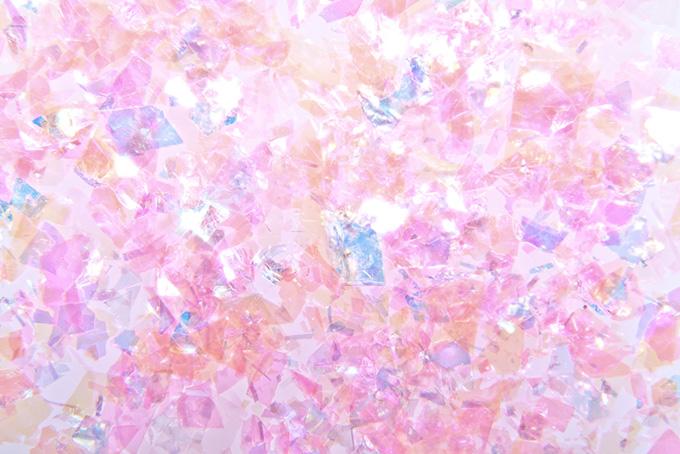 可愛らしいピンクのキラキラ