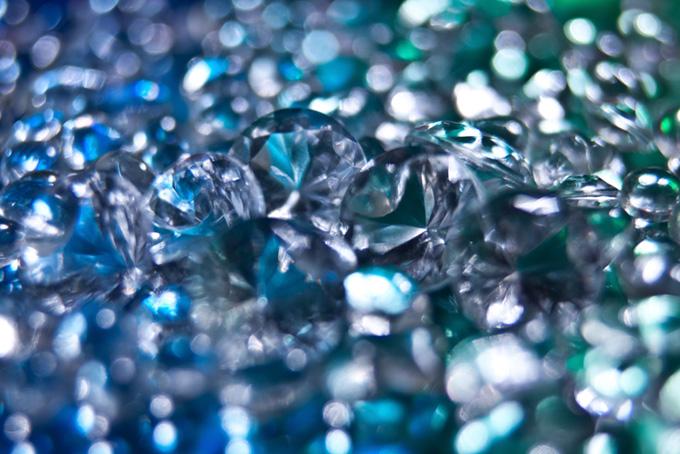 青と緑のキラキラの渦