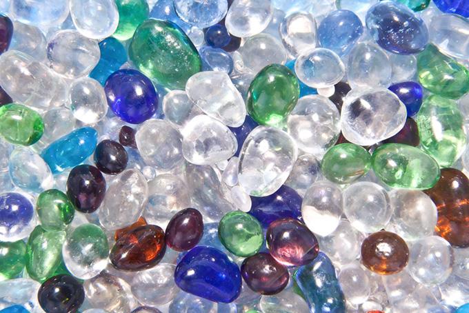 キラキラ ガラス玉のテクスチャ