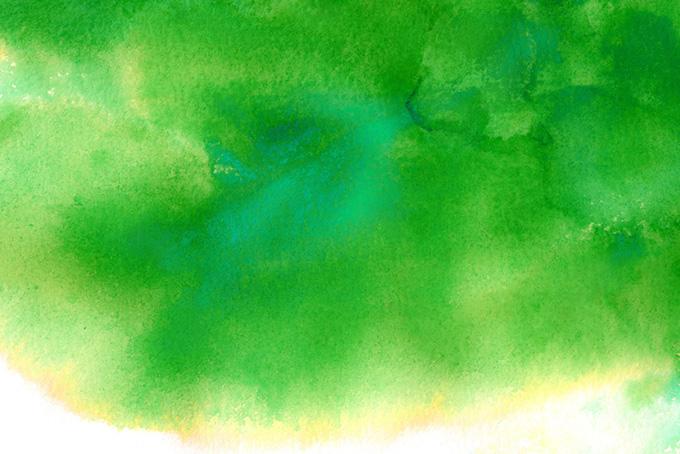 緑色の滲みのテクスチャ