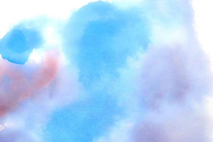 青と薄紫が混ざる水彩模様の素材(水彩の画像)