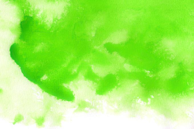鮮やかなグリーンの有機的な模様(水彩の画像)