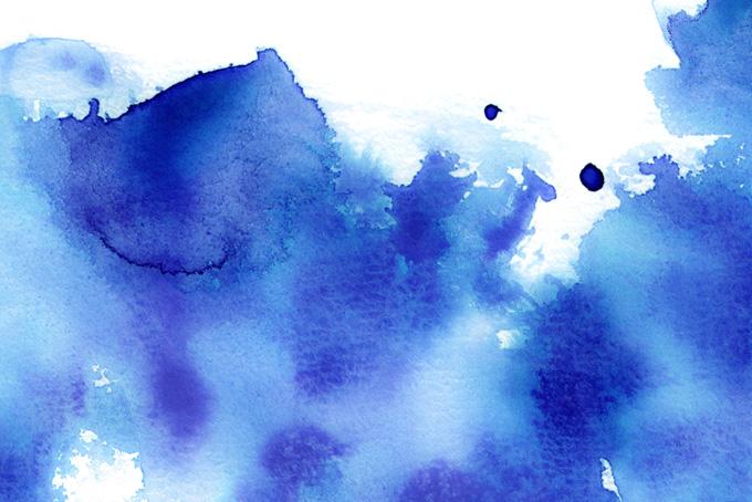濃紺の水彩グラデーションと暈しの画像(水彩の画像)