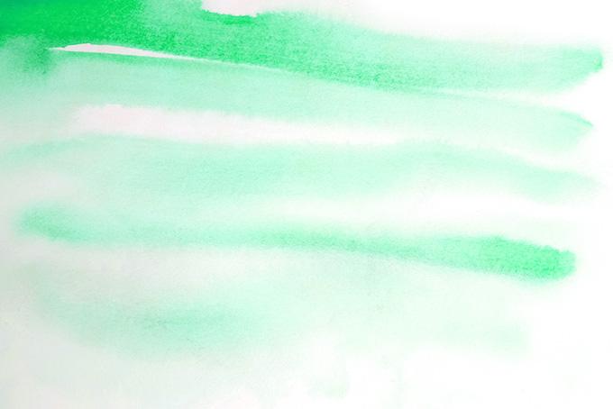 薄い緑色の水彩ライン