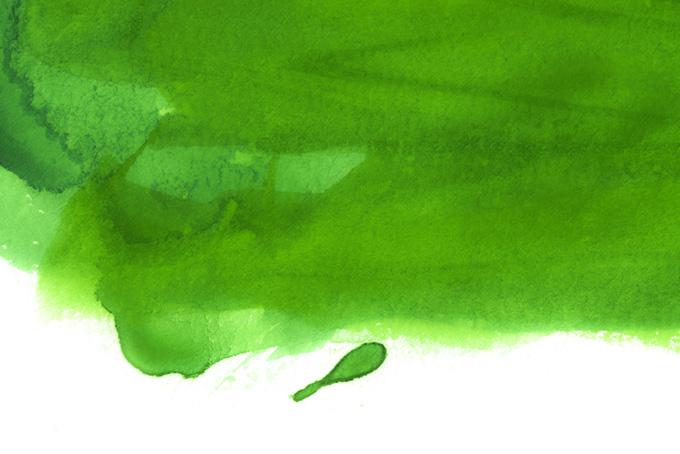 緑の濃淡がある水彩塗り背景画像(水彩 カラフルのフリー画像)