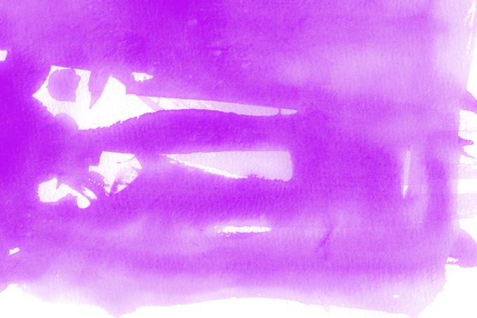 ロイヤルパープルの水彩薄塗り画像(水彩 カラフルのフリー画像)