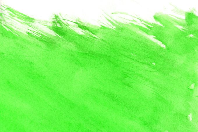 鮮麗なグリーンの水彩筆塗りの画像