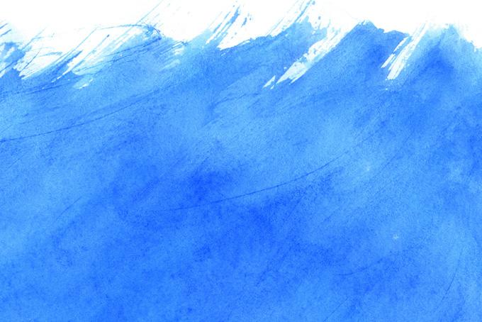 コバルトブルーの水彩手描き背景
