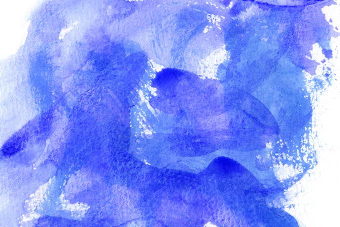 群青色の荒い水彩タッチのグラデーション