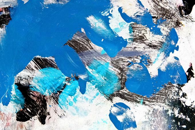 おしゃれな青黒白の水彩厚塗りテクスチャ