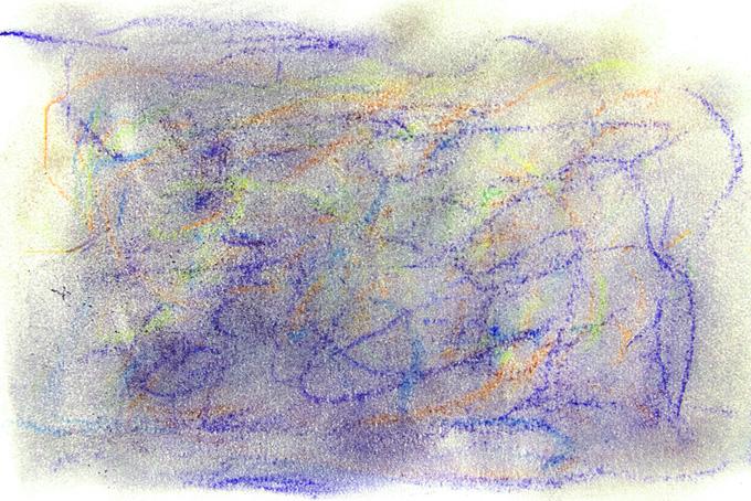 クレヨンとパステルの落書き画像