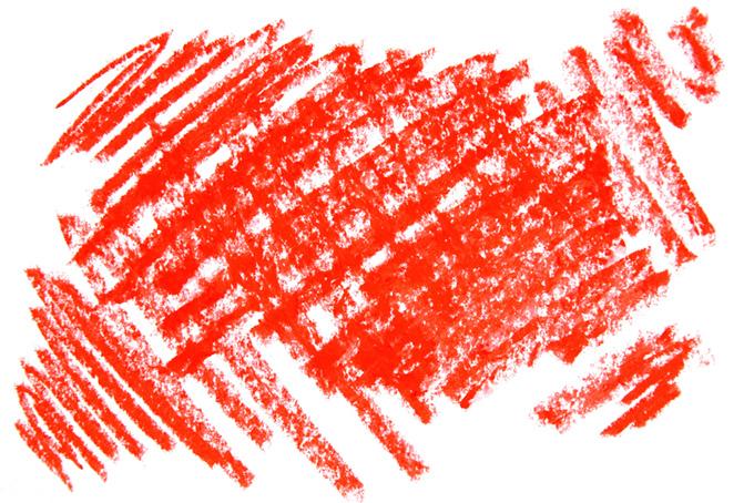 シンプルな赤色のクレヨンのテクスチャ素材