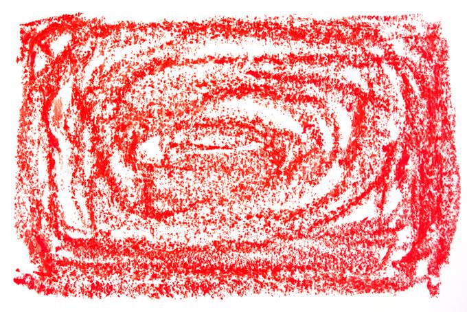 赤色のクレヨンを塗った可愛らしい背景素材