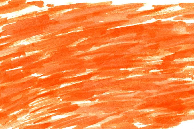 オレンジラインの水彩ペイントのシンプルな背景