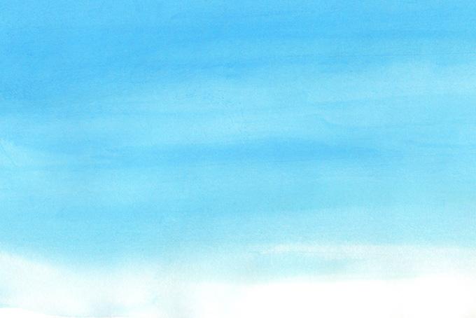 水彩紙とブルーのグラデーション背景