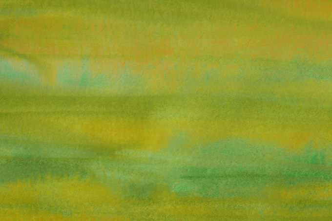 緑と茶色の水彩ペイントテクスチャ素材
