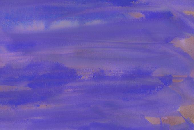 紫と茶色が薄く滲む紙のテクスチャ(水彩 絵の具のフリー画像)
