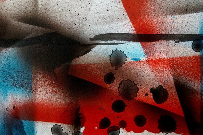 赤黒青のスプレーテクスチャ