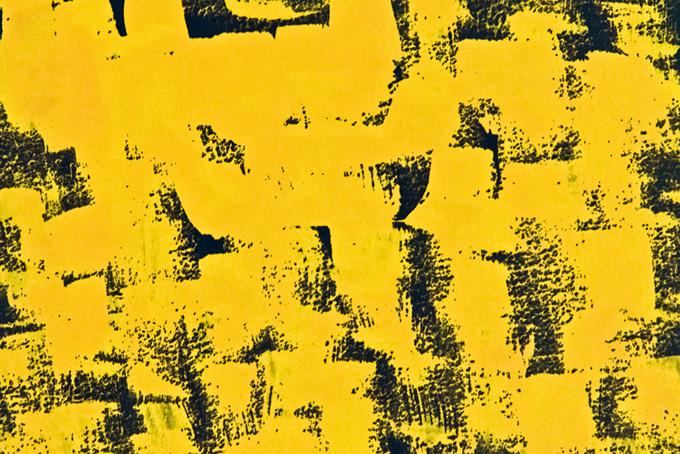 黄色と黒の水彩ドライブラシ