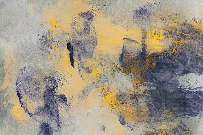水彩絵具の抽象イメージ