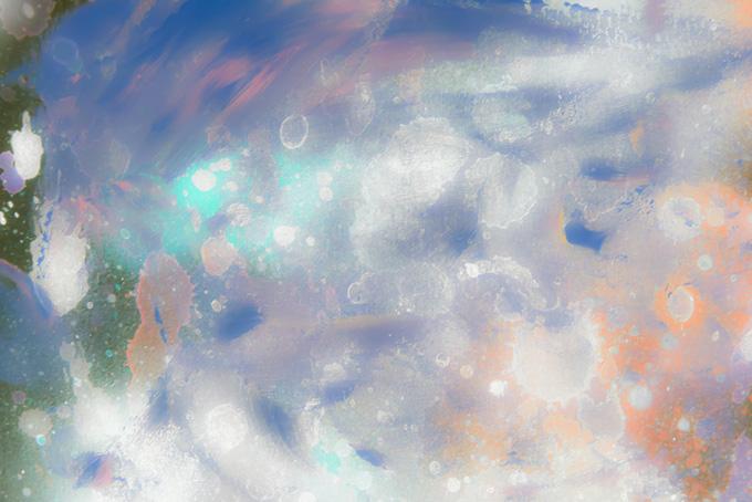 幻想的な雰囲気の水彩ペイント