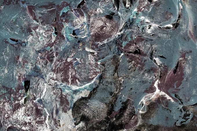 アクリル絵具の厚塗りテクスチャ