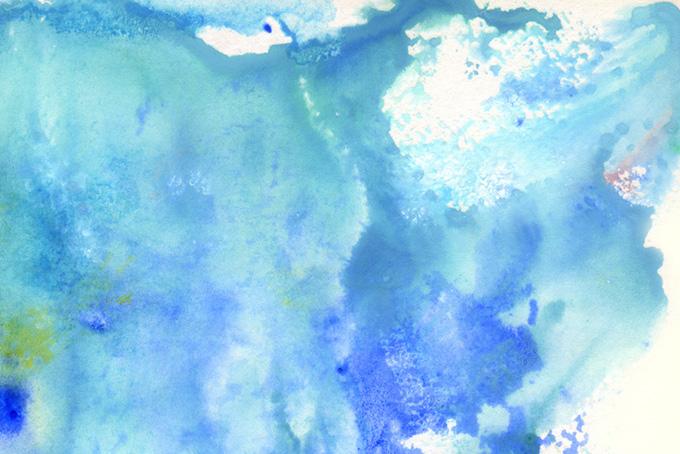 波のような水色の水彩模様テクスチャ