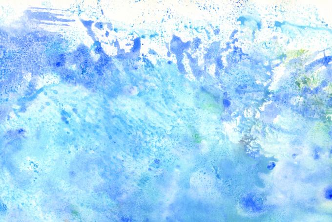 水飛沫のようなウオーターカラー画像