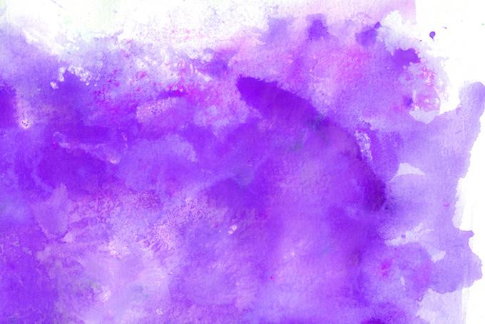 パープルの水彩バックグラウンド素材(水彩 カラフルのフリー画像)