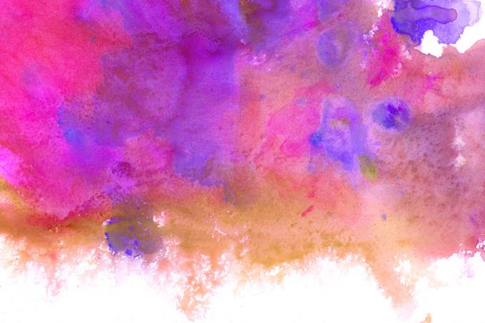 ピンクと茶色がにじむカラフルな水彩模様(水彩 カラフルのフリー画像)