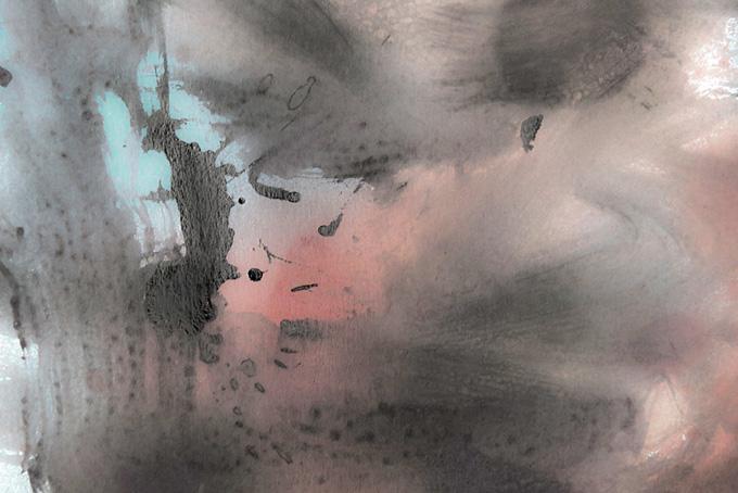 墨が混ざる日本的な水彩和風背景