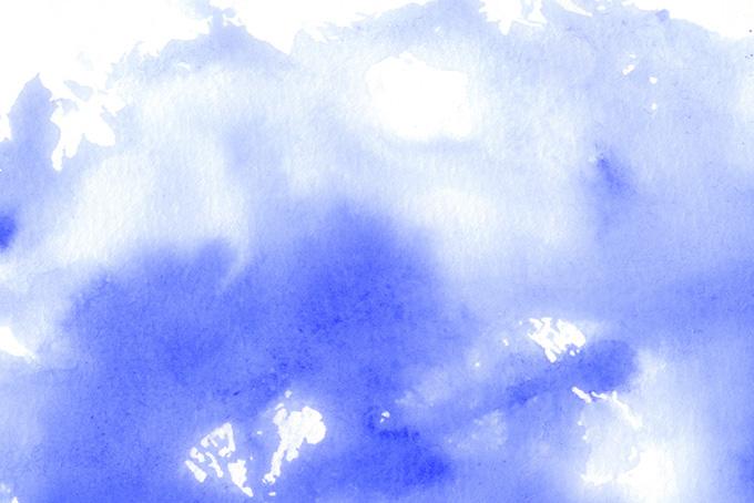 紺色の水彩濃淡と滲みのテクスチャ(水彩の画像)