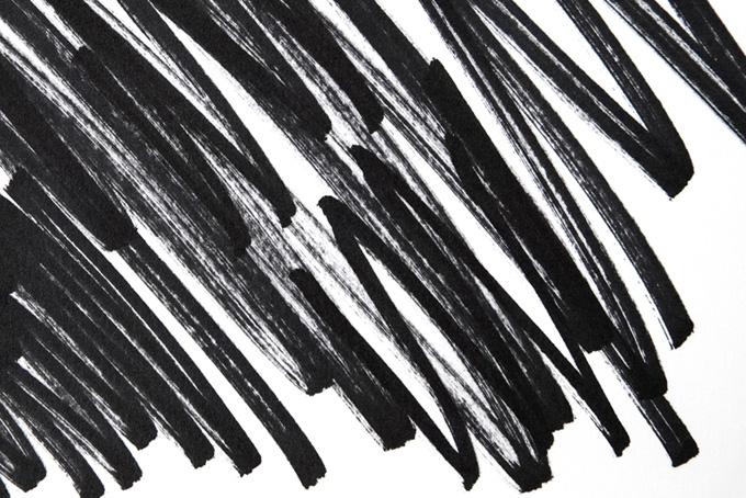 かすれのある黒マジックのテクスチャ(水彩 白黒のフリー画像)