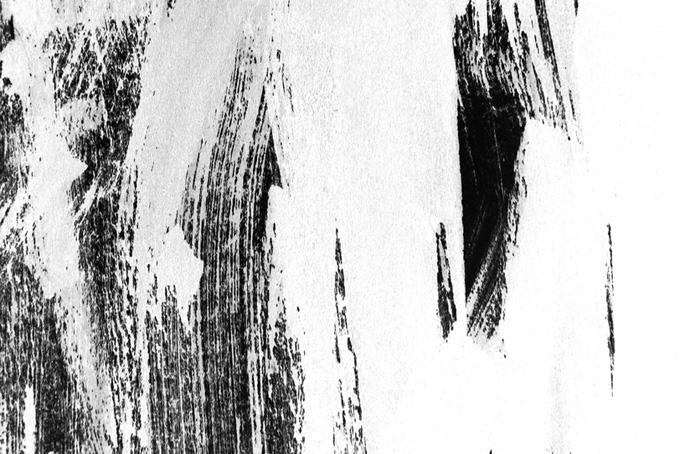 白黒の掠れた筆塗りのテクスチャ画像(水彩 白黒のフリー画像)