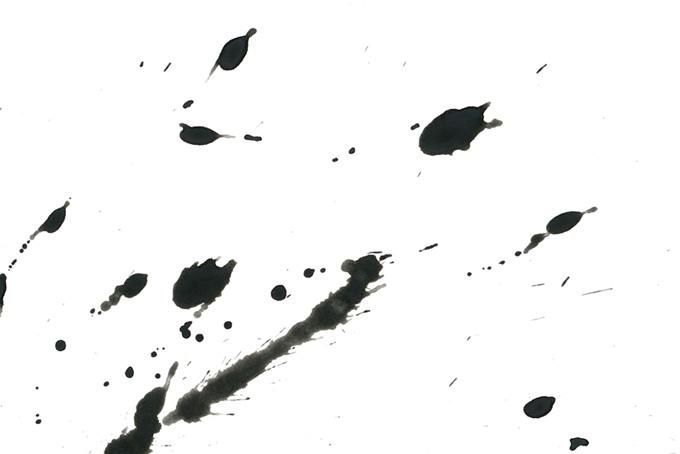 紙に跳ね散る墨のテクスチャ画像(水彩 墨のフリー画像)
