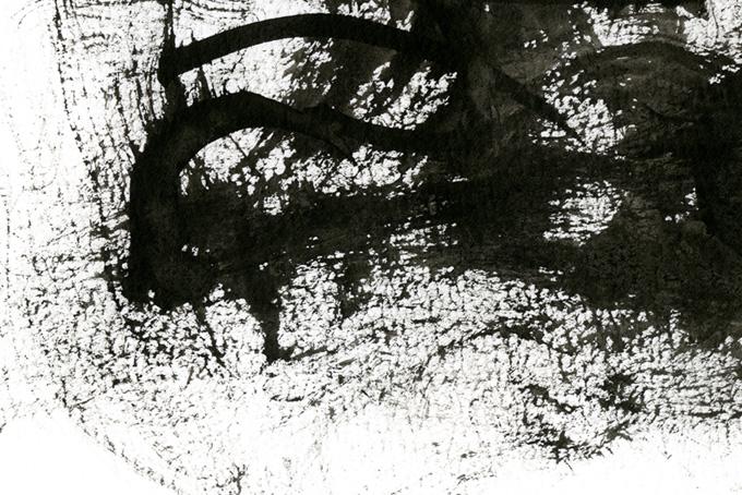 黒墨のドライブラシのテクスチャ