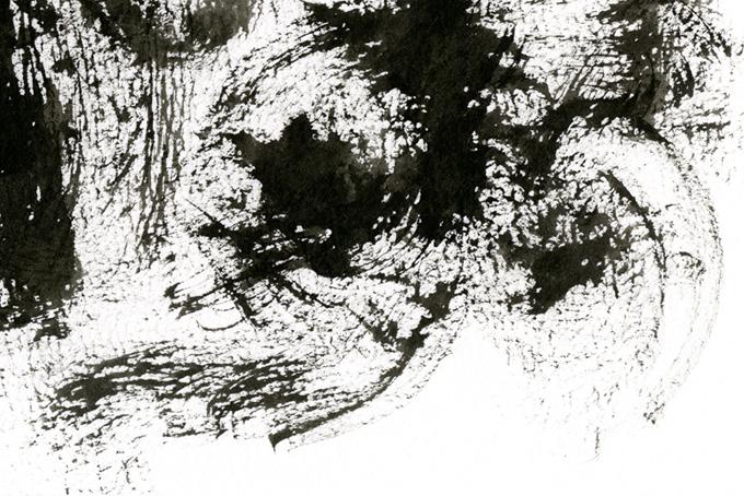 かっこいい黒墨の掠れと白い背景画像