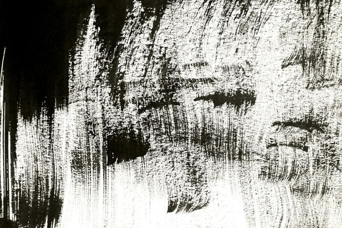 墨筆の黒いかすれのテクスチャ画像