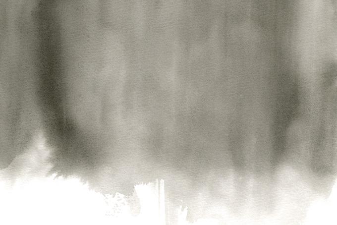 流れ落ちるように滲む薄墨の水彩(水彩 和風のフリー画像)