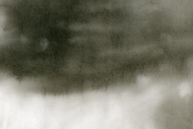 薄く滲む墨の水彩グラデーション素材(水彩 和風のフリー画像)
