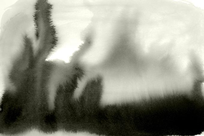 柔らかく滲む墨の和風テクスチャ(水彩 和風のフリー画像)