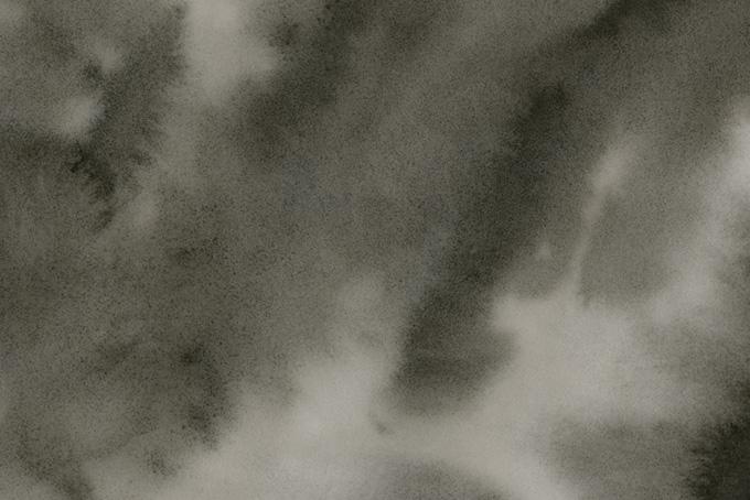 柔らかく暈ける黒墨の和風水彩背景(水彩 和風のフリー画像)