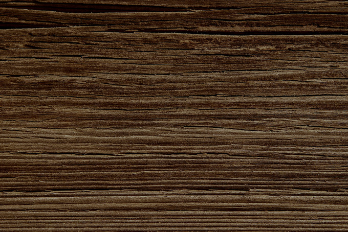 ひび割れパサパサした木板